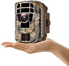 """Campark Mini Wildlife Camera 1080P HD Trail Game Camera Waterproof Scouting Hunting Cam 12MP with 120° Wide Angle Lens and Night Vision 2.4"""" LCD IR LEDs"""
