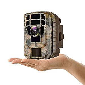 "Campark Mini Wildlife Camera-12MP 1080P HD Trail Game Camera Waterproof Scouting Hunting Cam with 120° Wide Angle Lens and Night Vision 2.4"" LCD IR LEDs"
