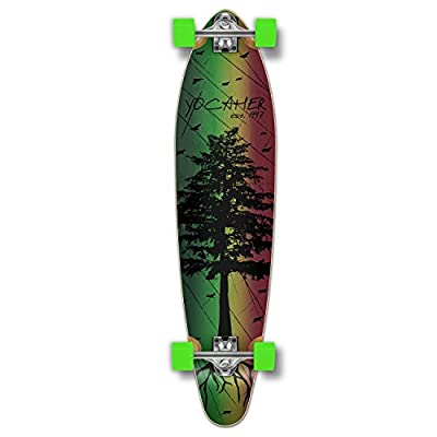 Yocaher in The Pines Rasta Longboard Complete Skateboard - Available in All Shapes