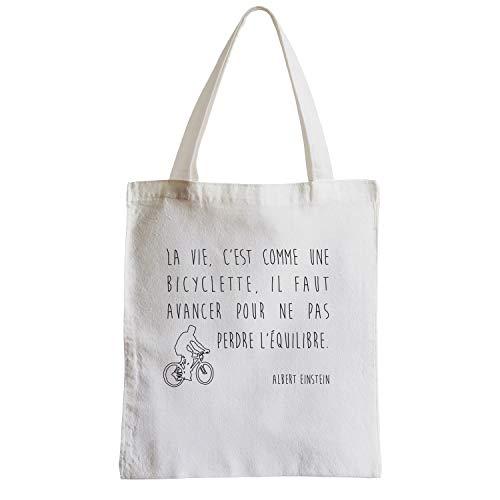 fabulous Große Tasche Sack Strand Schüler Berühmte Zitate Albert Einstein Das Leben ist wie Fahrrad Fährt Balance zu halten müssen Sie in Bewegung bleiben