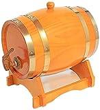 WSVULLD Cerveza Sub Keg Oak Envejecimiento Cubo, 15L Cubo de Whisky de Madera Hecho a Mano con Soporte para almacenar Whisky Agave (Color: Marrón, Tamaño: 15L) (Color : Yellow, Size : 15L)