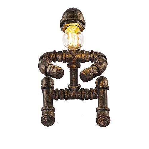 Lámparas de mesa DKEE Lámpara De Mesa Creativa LED Estilo Retro Industrial Personalidad Lámpara De Tubo De Agua E27 Restaurante/Sala De Estar Decoración Lámpara De Mesa Creativa