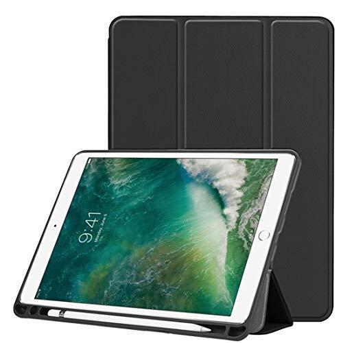 Ipad case Custer Texture Horizontal Flip Leather Case for iPad Pro 10.5 Inch/iPad Air (2019), with Three-folding Holder & Pen Slot (Black) Asun (Color : Black)