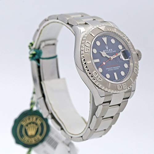 Rolex 16622 Oyster Perpetual Yacht-Master Steel with Platinum Mens Watch Silver Dial Oyster Perpetual Calendar Sapphire Crystal Serial Number Certified
