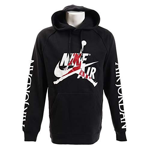 Nike M J Jumpman Classics Fleece Pull Over Mens BV6010-010 Size L Black/White
