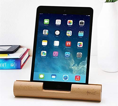 Soporte de la Tableta de Madera, Soporte de teléfono Celular Tableta de Escritorio de Madera de bambú móvil para teléfono iPad ZDWN