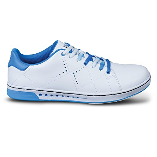 KR Strikeforce Bowling Shoes Youth Girls Gem Bowling Shoes- White/Blue, 2