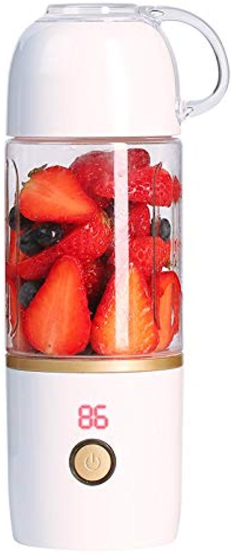 ZUEN USB Juice Coupe Ménage portable électrique Presse-Fruits UV Désinfection Mini Frais Squeezer Vide Coupe Cadeau Petits Appareils Cadeaux,blanc