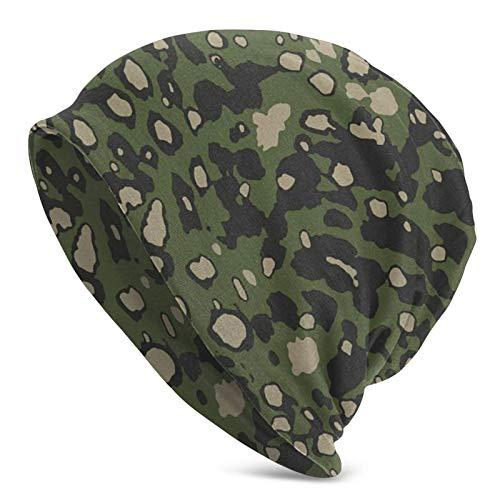 Pizeok Gorro de Calavera con Punto de Leopardo en Estilo Camuflaje Beanie Hat Gorras Sombreros de Punto de Invierno para Mujeres Hombres Tobog