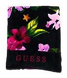Guess - Toalla de playa con diseño de flores Negro Talla única