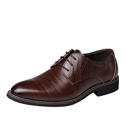 Business Schuhe für Herren/Skxinn Herrenschuhe Schnürhalbschuhe Business Anzugschuhe Atmungsaktiv Lederschuhe Oxford Halbschuhe Party Hochzeit übergrößen 37-48 Ausverkauf(Weinrot,46 EU)