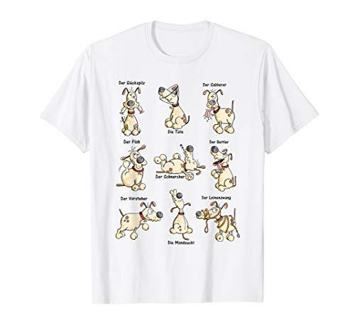 Hunde Yoga Comic T Shirt I Hundefreunde Funshirt