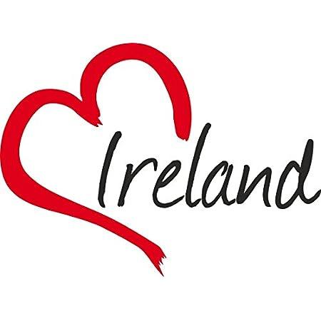 Auto Aufkleber Ireland Herz Irland Ca 9x12cm Konturgeschnitten Auto