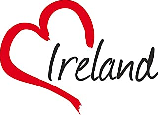 Auto Aufkleber ' IRELAND ' Herz Irland ca.9x12cm konturgeschnitten