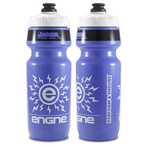 NGN Sport - High Performance Bicycle | Bike Water Bottle for Triathlon, MTB, and Road Cycling - 24 oz (2-Pack) (Medium Purple/ White (2-Pack))
