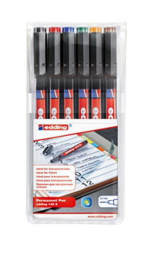edding 4-140-6 OHP-Marker 140 S, Permanent, 0.3 mm, sortiert
