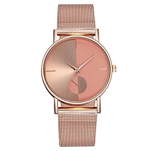 Relojes Relojes Ultrafinos De Moda para Hombre, Reloj De Pulsera De Cuarzo con Malla De Acero Inoxidable para Negocios, Reloj para Hombre, Regalo De Cumpleaños, Oro Rosa