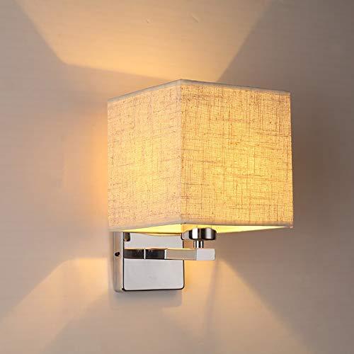 Moderne Minimalistische Stoffen Wandlamp, Creatieve En Stijlvolle Vierkante Lamp, Geschikt Voor Nachtverlichting Van Decoratief Huis, Hotel, Gang En Vrijetijdsruimte