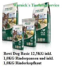 Bewi Dog Basic 12,5KG inkl. 1,0KG Rinderpansen und inkl. 1,0KG Rinderkopfhaut
