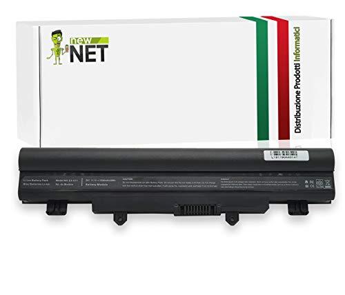 New Net Batteria AL14A32 Compatibile con Notebook Acer Aspire V3-472P V3-472PG V3-572 V3-572G V3-572P V3-572PG EXTENSA 2509 2510 2510G TravelMate P276M-MG [5200mAh]