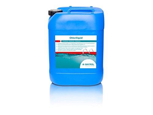 Cloro líquido para piscinas Bayrol Chloriliquid 20 kg. Hipoclorito sódico al 12%
