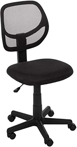Foshan Kefayou Network Technology Co,Ltd.Low-Back, Upholstered Mesh, Adjustable, Swivel Computer Office Desk Chair, Black