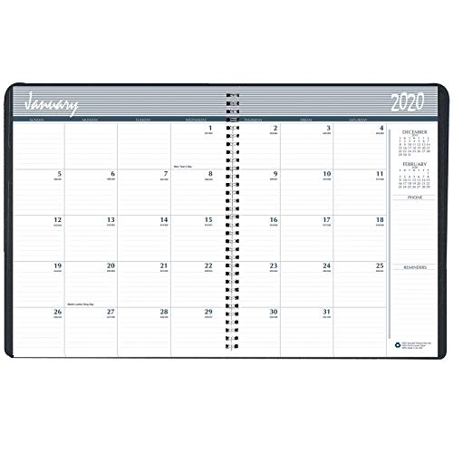 House of Doolittle 2018-2019 Two Year Calendar Planner, Monthly, Black Cover, 8.5 x 11 Inches, January - December (HOD262002-18)