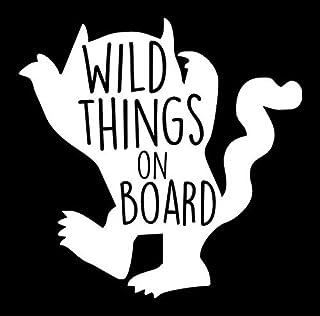 Makarios LLC Wild Things on Board MKR807 Autos, Lastwagen, Lieferwagen, Wände, Laptop, Weiß, 14 x 14 cm