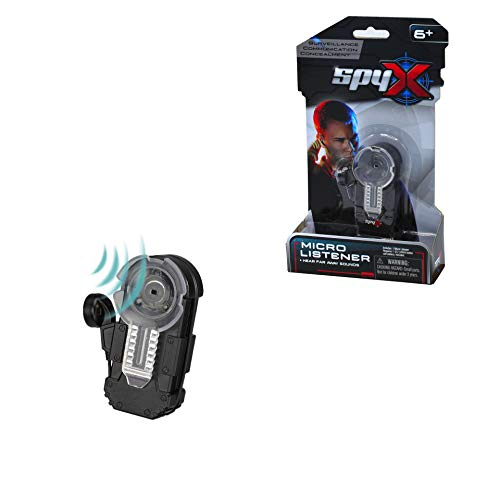 SpyX Micro Listener - Spy Toy Listening Device Clips to Your Pocket with Attached Ear Bud to Hear Secret Conversations. Perfect Addition for Your spy Gear Collection!