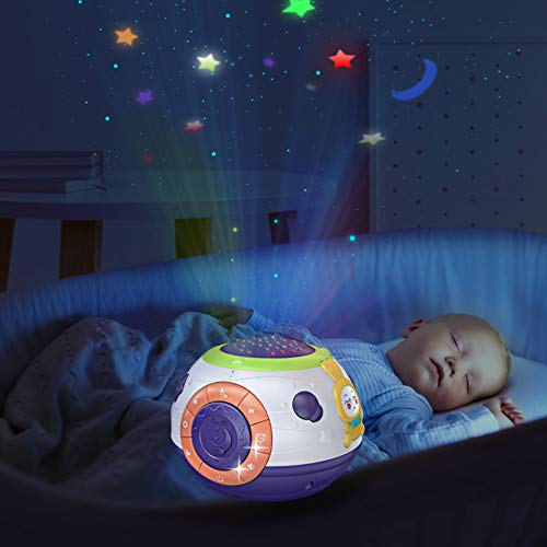TUMAMA Baby Toy Gifts for Newborn, Toddlers Night Light Star Projector, Baby Sleep Soother Sound Machine, Talking Baby Toys