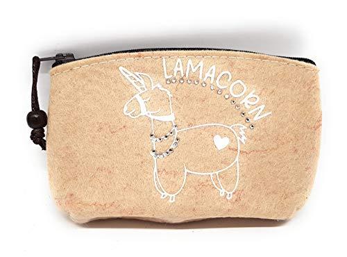 """Kosmetiktasche aus Filz """"Lamacorn"""" – schöne Geschenkidee für Frauen und Mädchen!"""