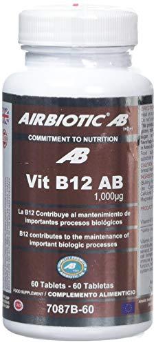 Airbiotic AB - Vit B12 AB Vitaminas para la depresión, anemia y neuropatías, 1000 mg