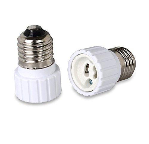 Possec E27 a GU10 Portalámparas Convertidor de luz LED Adaptador de portalámparas Paquete de 2 (E27 to GU10)