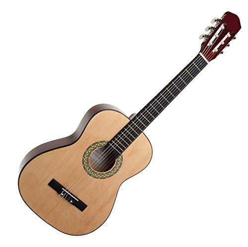 Classic Cantabile AS-851 7/8 Konzertgitarre Natur (Akustikgitarre, geeignet für Kinder im Alter von 11-13 Jahren, Bundmarkierung, Nylonsaiten)