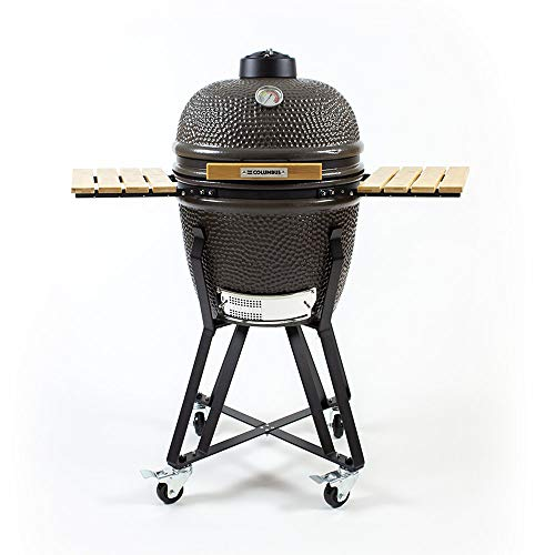 The Columbus Keramik Grill Medium Charcoal Grey Kamado Holzkohle Grill BBQ