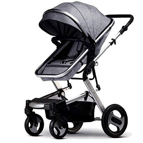 Buy Bargain TZZ Baby Stroller High View Travel System with Baby Basket Anti-Shock Springs Newborn Ba...