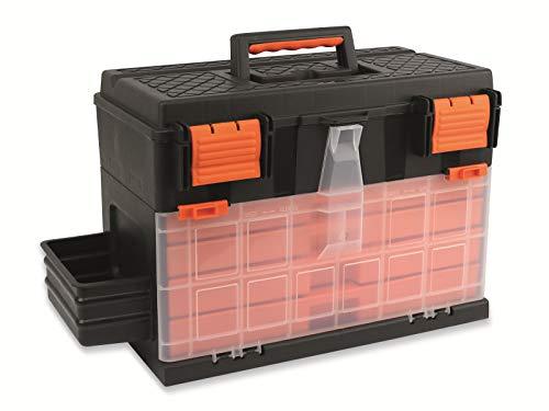 HTI-Living 08625 Caja Herramientas con Cajones , Negro/Naranja, 45 x 26 x 32 Cm