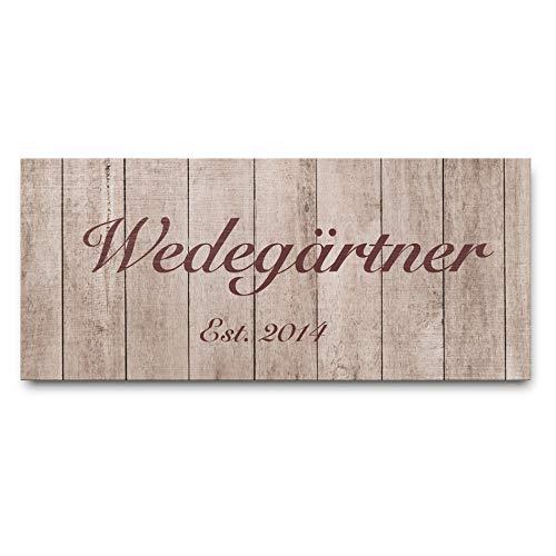 Rustikales Namensschild aus Holz   Türschild mit hübscher Kordel - Bohrlöchern und individuellem Wunsch-Text   Schild aus Holz mit aufwendigem Druck