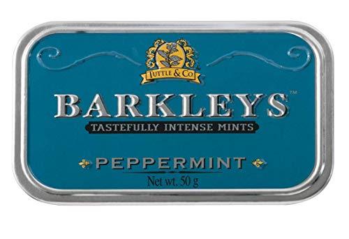 Barkleys Blu Caramelle Menta Piperita. Confezione da 6 Lattine. Senza derivati del latte, Glutine, Uova, Soia e sostanze animali. Adatto a Vegetariani e Vegani. Da collezionare
