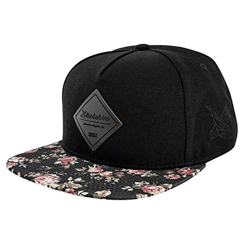 Blackskies Black Beauty Vol. II Snapback Cap | Gorra de béisbol Negra Unisex Rose Flowers