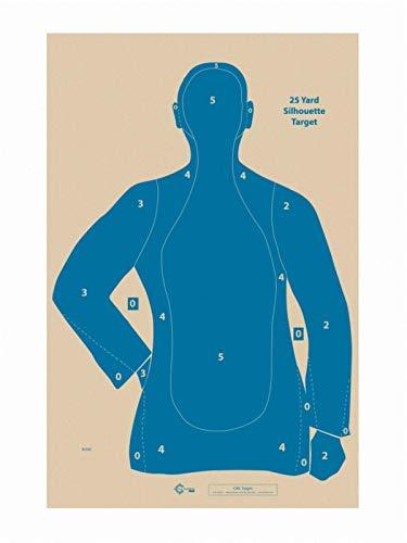 Official NRA B-21E Target, 21 Yard Target, Shooting Paper Targets, 22.5