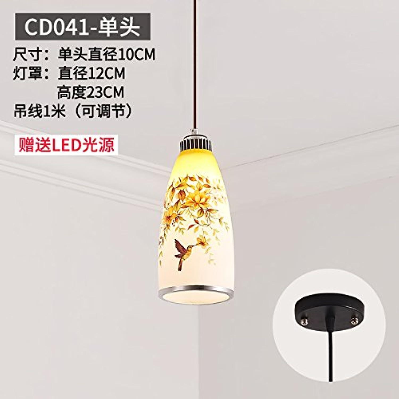 BESPD Modernes, minimalistisches Runde kreative Restaurant Continental Lampen Hellgrau Cd041-Kopf Led
