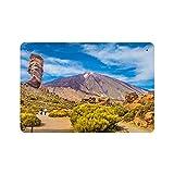 Spanien Teide Vulkan Teneriffa (1) Naturmalerei Vintage