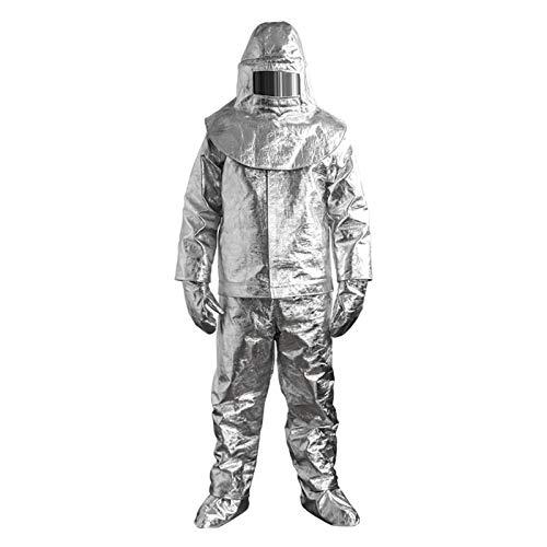 Feuerfester Anzug, 1000-Grad Hitzebeständiger Feuerfester Aluminiumfolienanzug, Strahlungssicherer, Für Feuerwehrleute