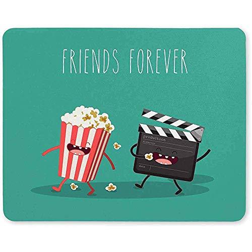Film Clapper en Popcorn in Doos Niet Slip Rubber Comfortabele Computer Mouse Pad Gaming Mousepad Mat voor Thuis Vrouw Man Baas Werk