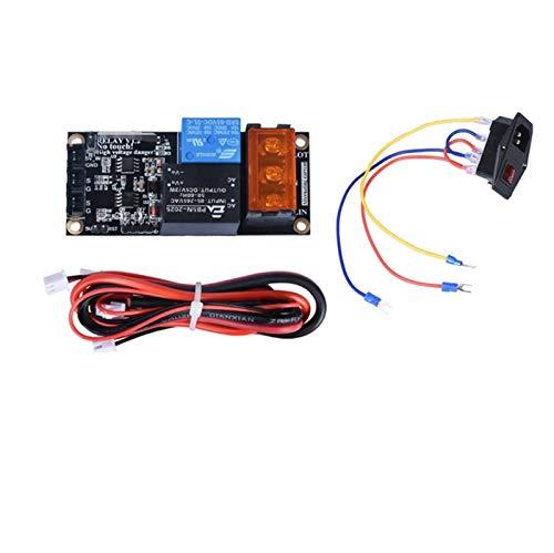 GOUJI Liupin Store Relay V1.2 - Módulo de monitoreo de potencia + interruptor basculante de potencia de 10 A 250 V, compatible con SKR V1.3 PRO E3 CR10 Extrusora 3D, fácil de instalar (color: negro)