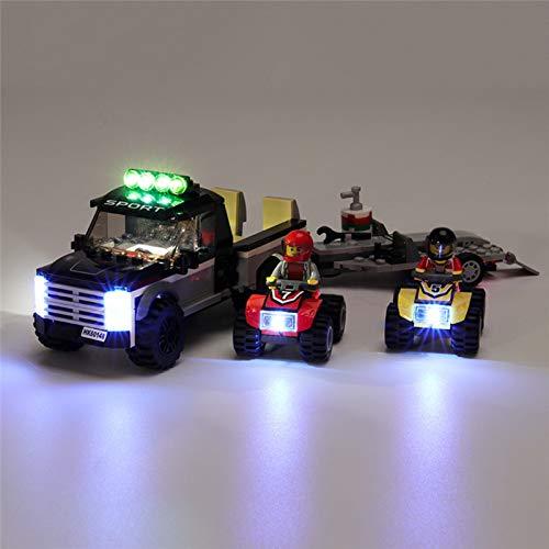 HLEZ Juego de Luces USB de para Equipo City ATV Race Modelo de Bloques de Construcción, Kit de Iluminación LED Compatible con Lego 60148 (Modelo Lego no Incluido)