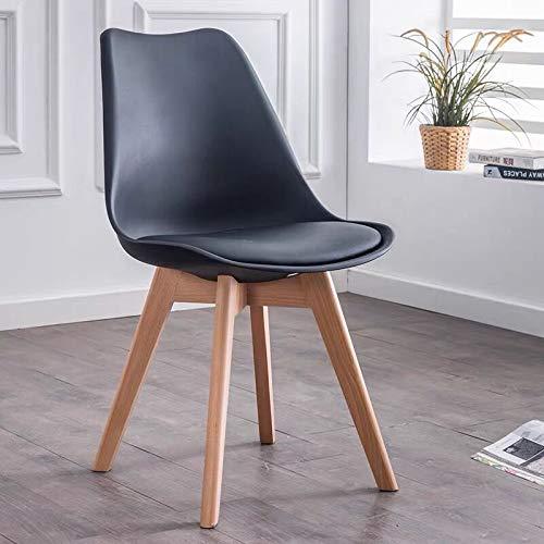 ZMALL - Juego de 4 sillas de comedor modernas para interiores sin brazos laterales con patas de made
