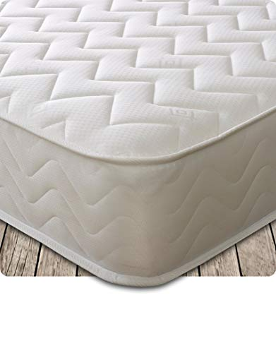 Starlight Beds – Double Mattress, 7.5 Inch Deep Sprung Double Memory Fibre Mattress with a Zig Zag Design Cool Touch Top Panel (4ft6 x 6ft3)