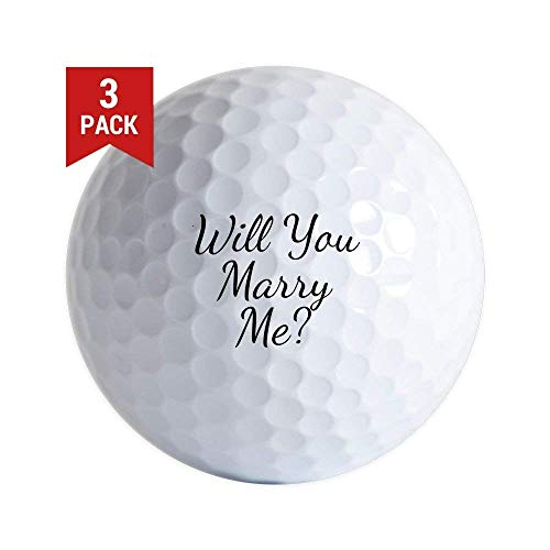 Unique Golf Ball Gifts - Will You Marry Me? Golf Balls (3-Pack)
